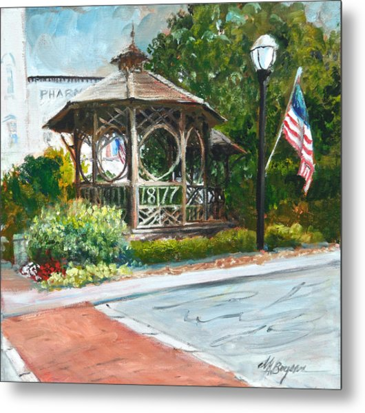 The Bandstand In Triangle Park Chagrin Falls Metal Print