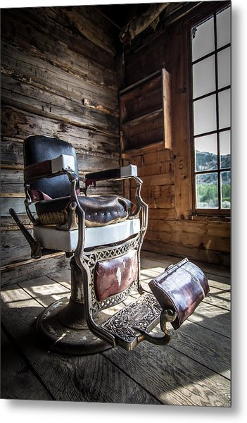 The Barber  Metal Print by Henny Gorin