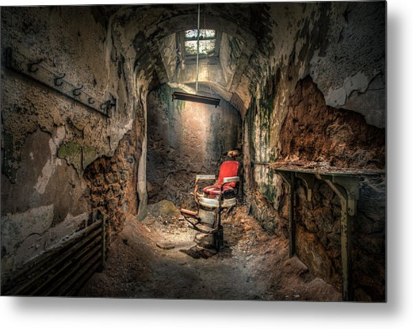 Metal Print featuring the photograph The Barber's Chair -the Demon Barber by Gary Heller