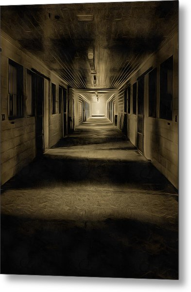The Barn Aisle Metal Print