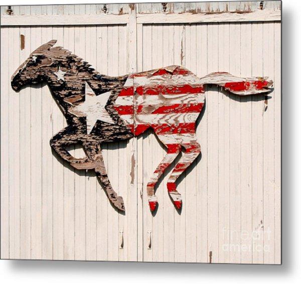 The Barn Horse Metal Print