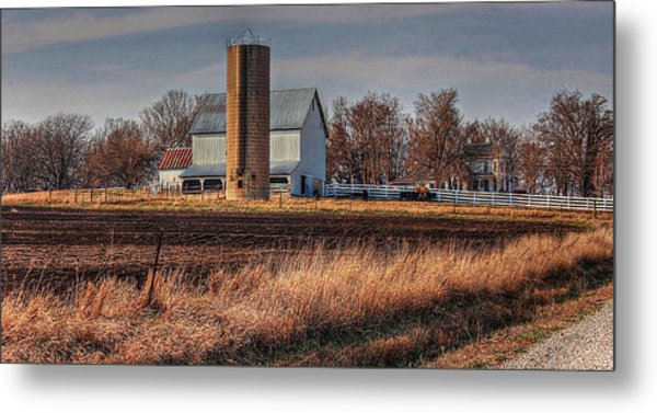 The Barn On The Hill Metal Print