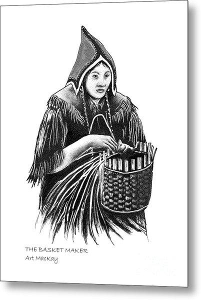 The Basket Maker Metal Print