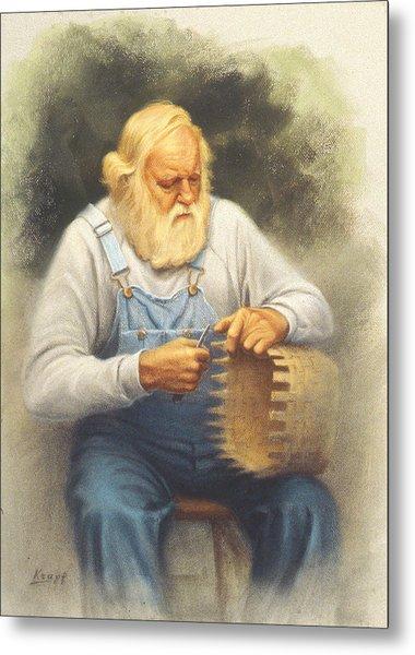 The Basketmaker In Pastel Metal Print by Paul Krapf