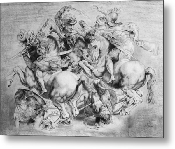 The Battle Of Anghiari Metal Print by Miguel Rodriguez