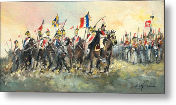 The Battle Of Austerlitz Metal Print