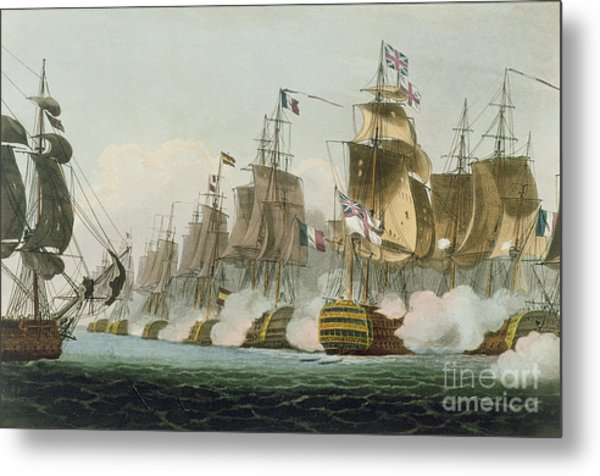 The Battle Of Trafalgar Metal Print