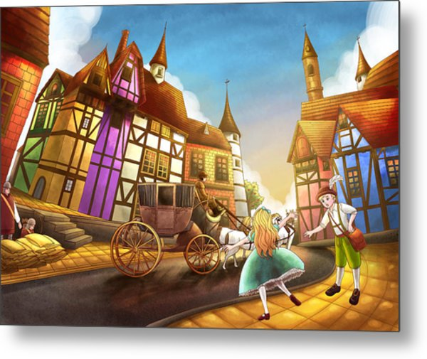 The Bavarian Village Metal Print