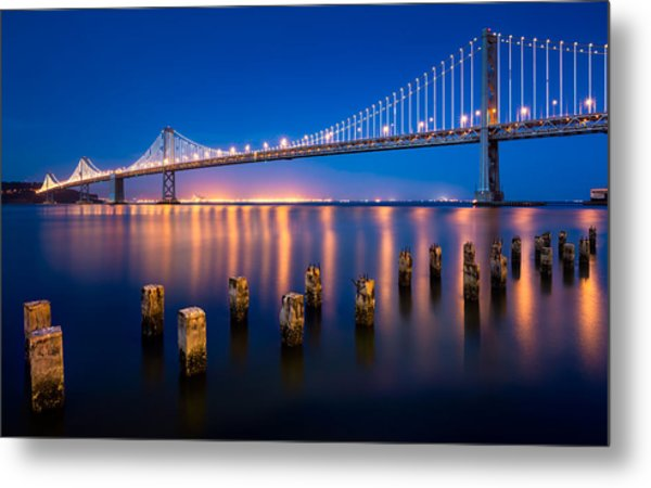 The Bay Lights Metal Print