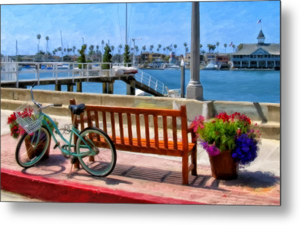 The Beach Cruiser Metal Print