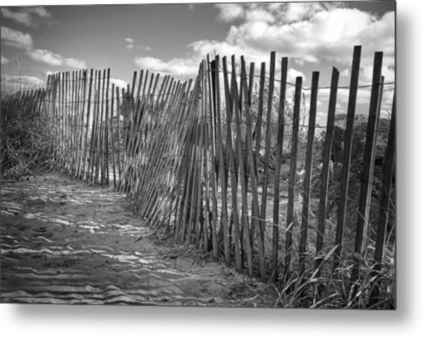The Beach Fence Metal Print
