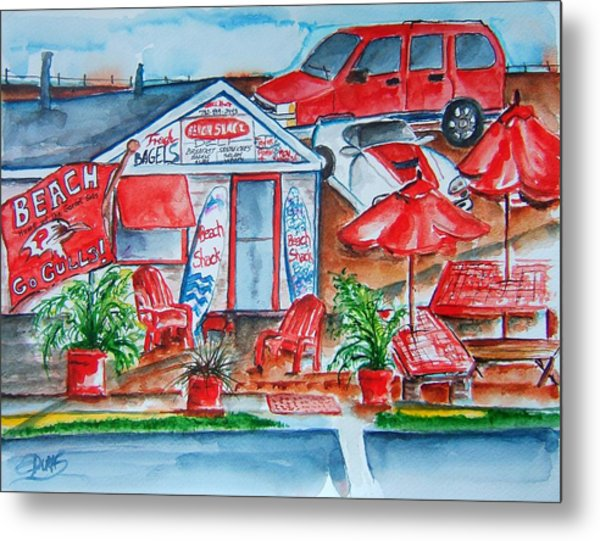 The Beach Shack Metal Print