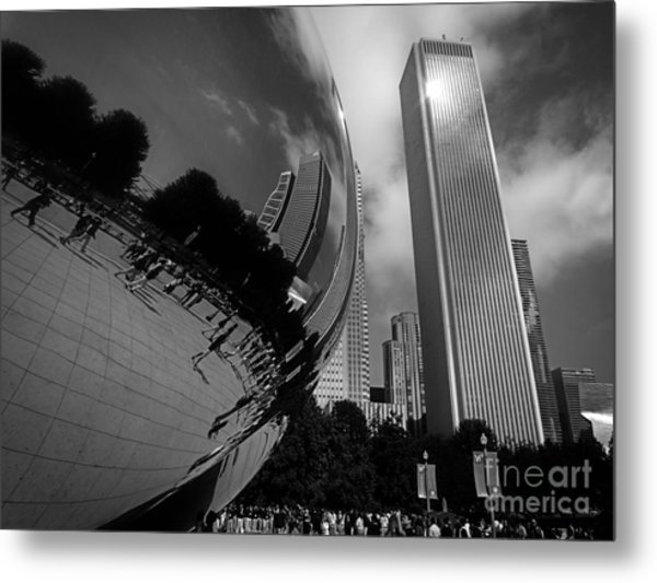 The Beans Reflection Metal Print