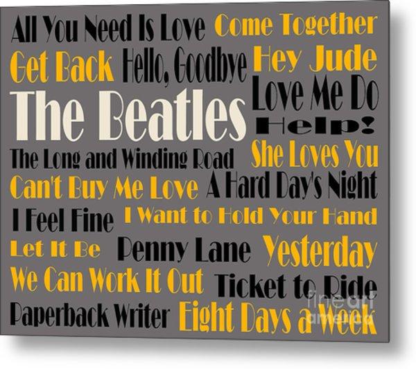 The Beatles 20 Classic Rock Songs 4 Metal Print