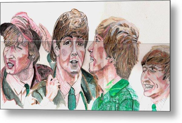 The Beatles 3 Metal Print by David Garren