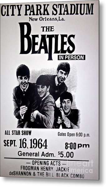 The Beatles Circa 1964 Metal Print