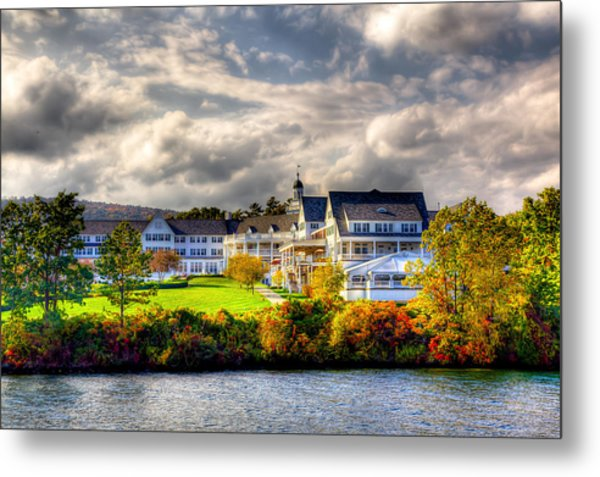The Beautiful Sagamore Hotel On Lake George Metal Print