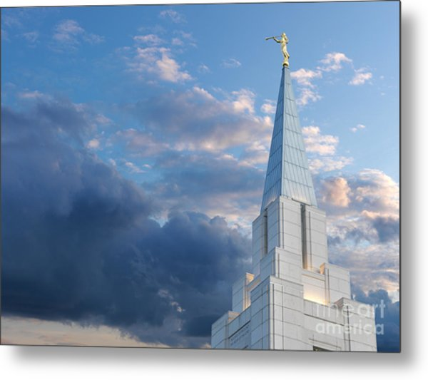 The Beautiful Vancouver Lds Temple. Metal Print by Laurent Lucuix