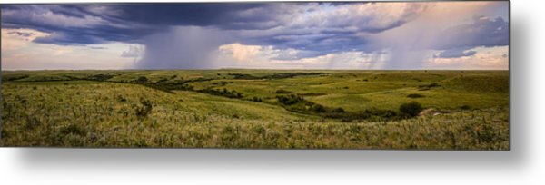 The Beginnings - Flint Hills Storm Pano Metal Print