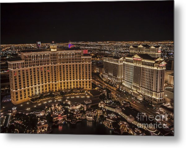 The Bellagio Casino Metal Print