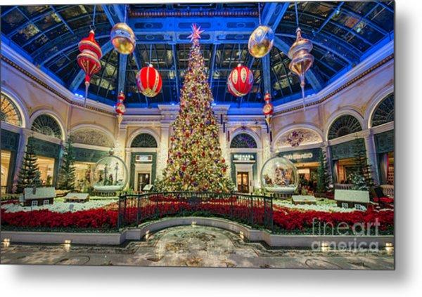 The Bellagio Christmas Tree Metal Print