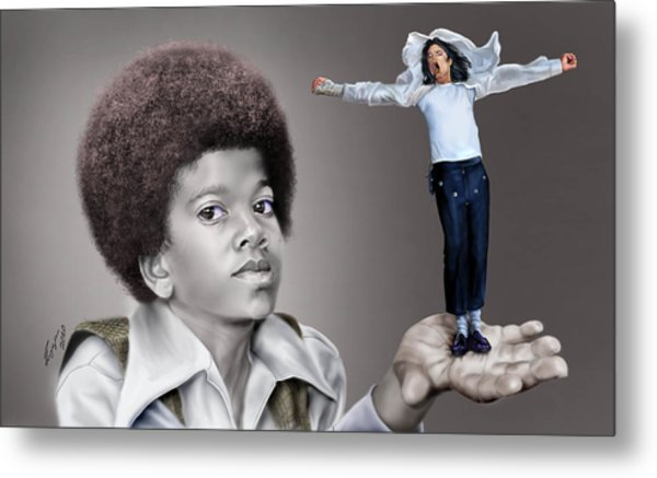 The Best Of Me - Handle With Care - Michael Jacksons Metal Print
