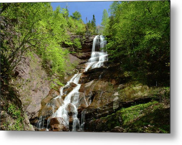 The Beulach Ban Waterfalls On The North Metal Print
