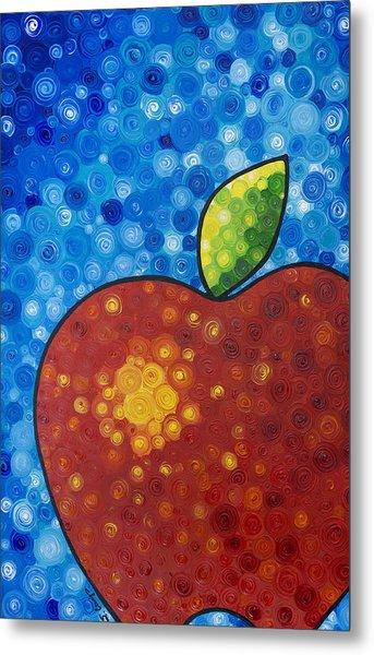 The Big Apple - Red Apple By Sharon Cummings Metal Print