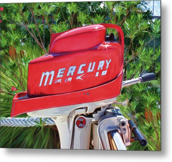 The Big Red Mercury Engine Metal Print