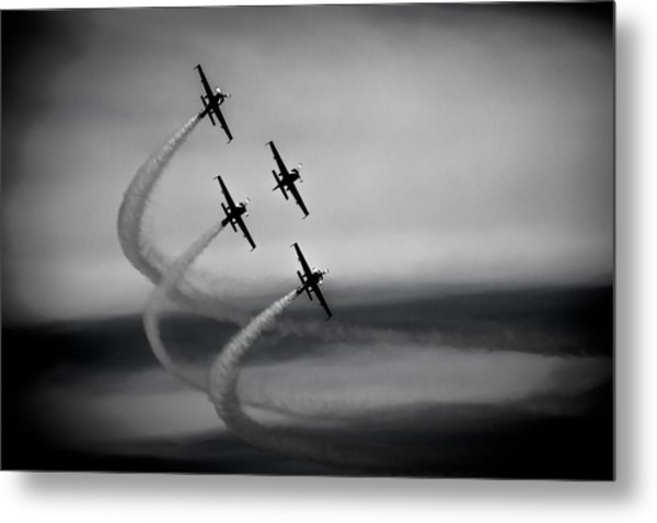 Metal Print featuring the photograph The Blades In Formation Sunderland Air Show 2014 by Scott Lyons