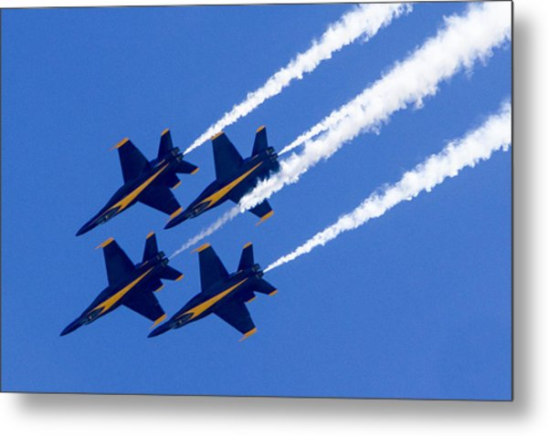The Blue Angels In Action 2 Metal Print