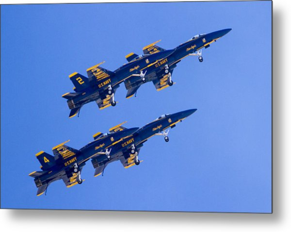 The Blue Angels In Action 3 Metal Print
