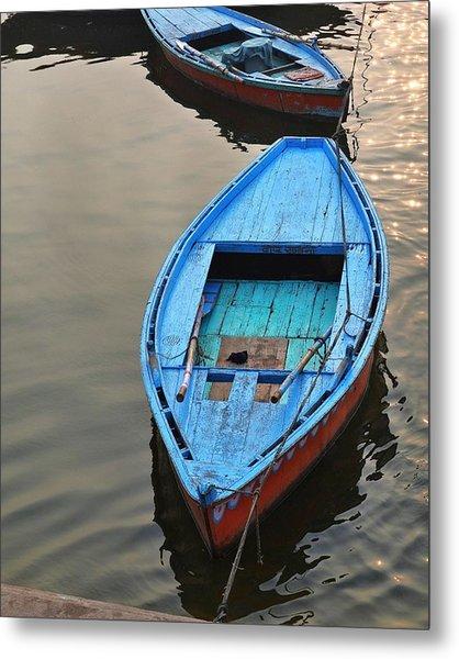 The Blue Boat Metal Print