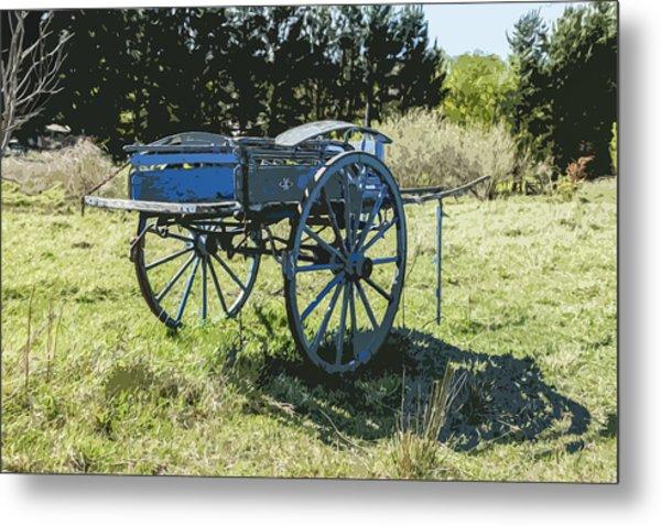 The Blue Cart Metal Print by Gary Cowling