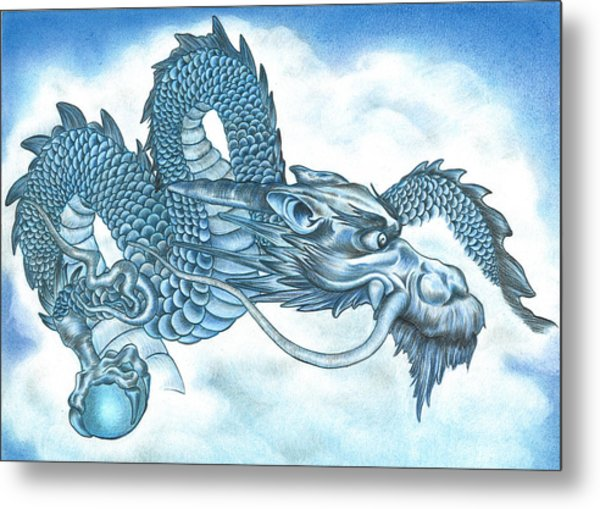 The Blue Dragon Metal Print