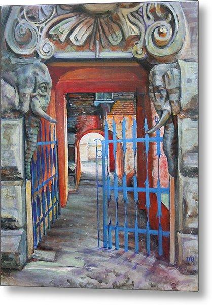 The Blue Gate Metal Print