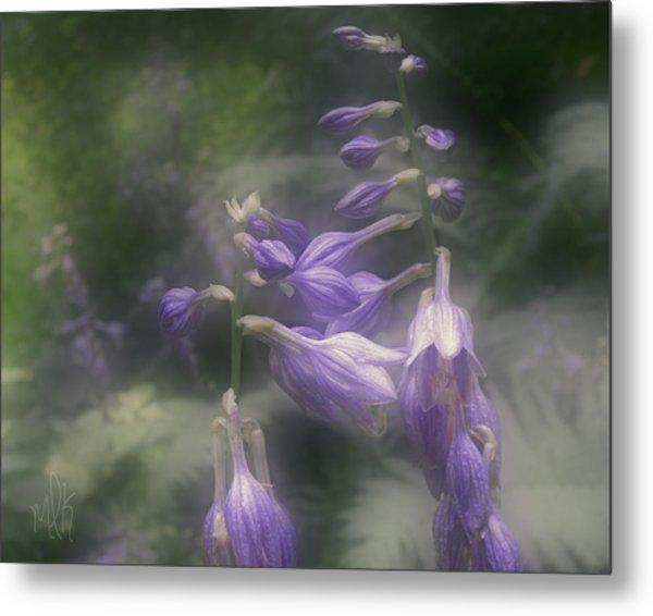 The Blue Lilies Metal Print