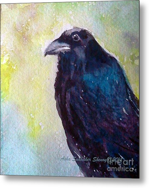 The Blue Raven Metal Print