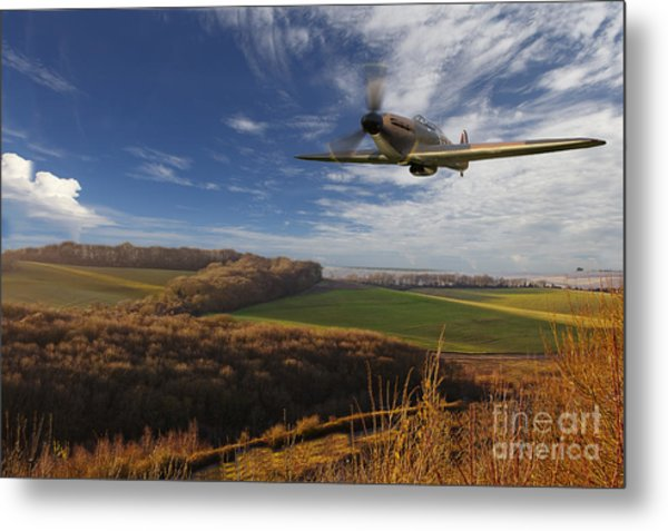 The Blue Skies Of Britain. Metal Print by Pete Reynolds