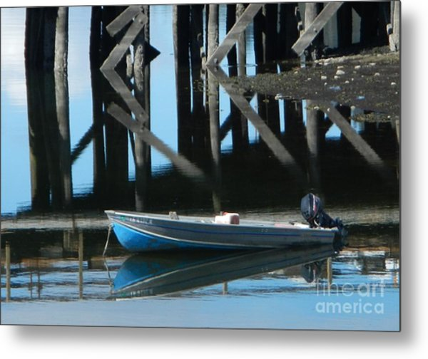 The Blue Skiff Metal Print