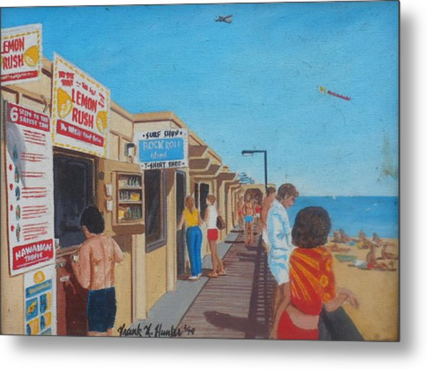 The Boardwalk At Daytona Beach Metal Print
