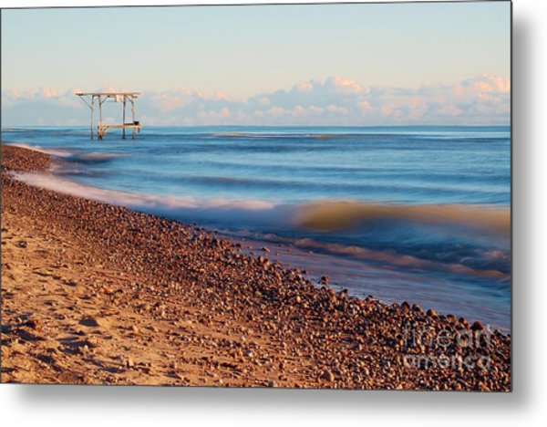 The Boat Hoist Metal Print