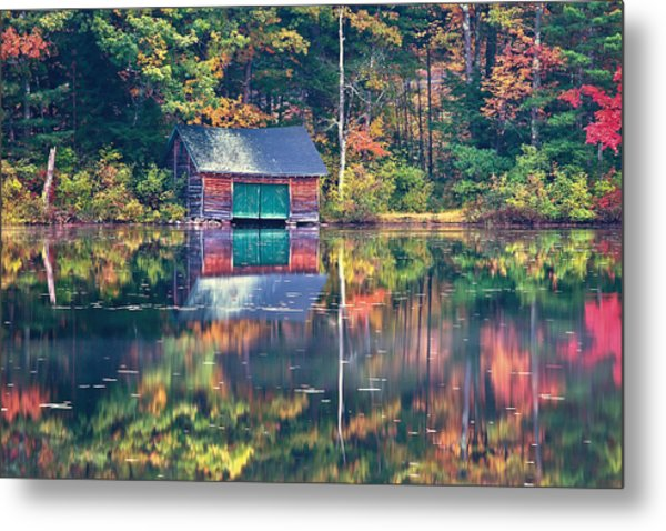 Metal Print featuring the photograph The Boat House by Jeff Sinon