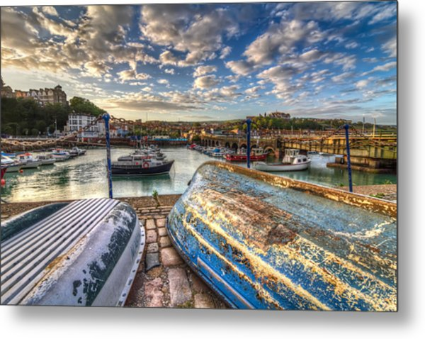 The Boats Of Folkestone Metal Print