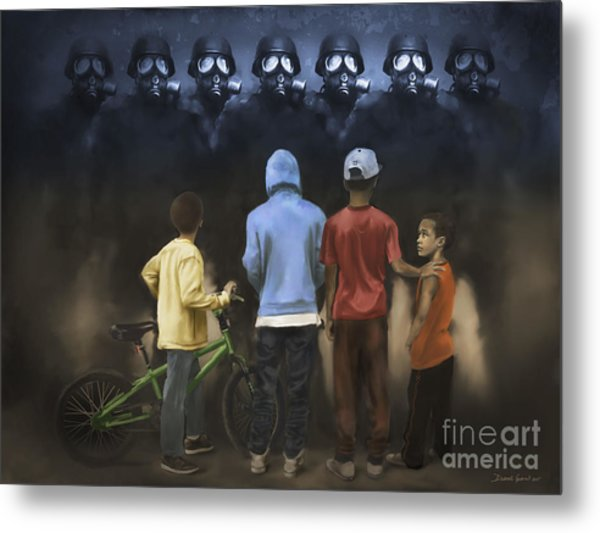 Metal Print featuring the digital art The Boogie Men by Dwayne Glapion