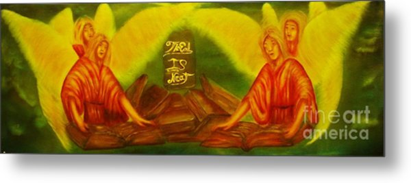 The Books Of Life -original Sold-buy Giclee Print Nr 35 Of Limited Edition Of 40 Prints  Metal Print