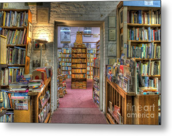 The Bookstore Metal Print