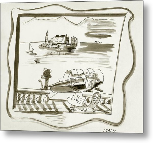 The Borromean Island On Lake Maggiore In Italy Metal Print by Ludwig Bemelmans