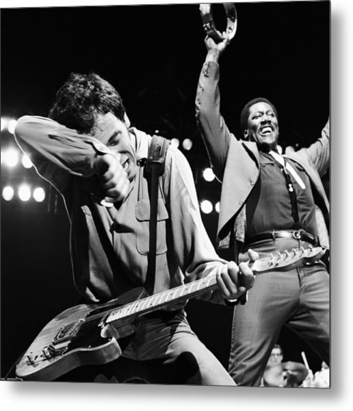 The Boss And The Big Man - Square Metal Print