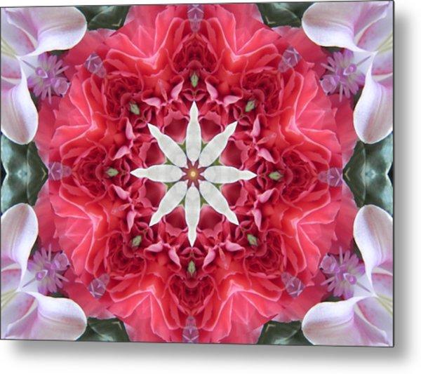 The Bouquet Mandala Metal Print